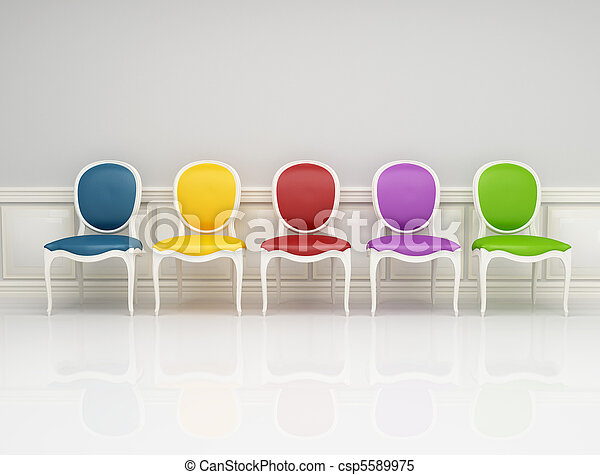 colored classic chair - csp5589975