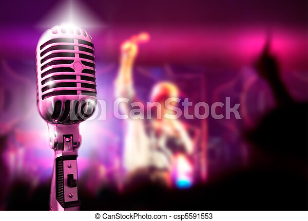 microphone and concert - csp5591553