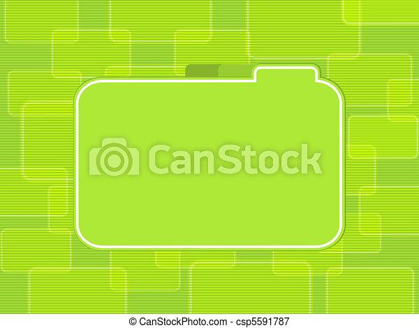 illustrations de r233sum233 vert rectangle fond vert