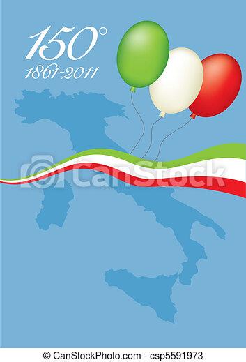 150th anniversary of Italian unity - csp5591973