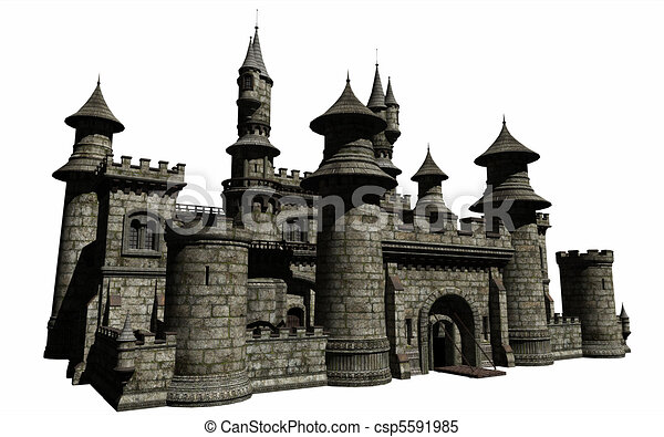 Fairytale Castle - csp5591985