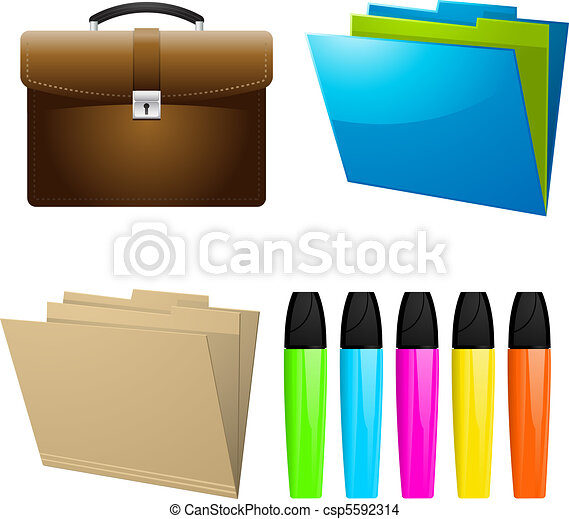 Dibujos de elementos oficina icono empresa negocio for Elementos para oficina