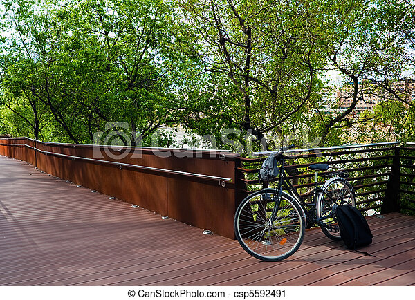 bicycle with trees - csp5592491