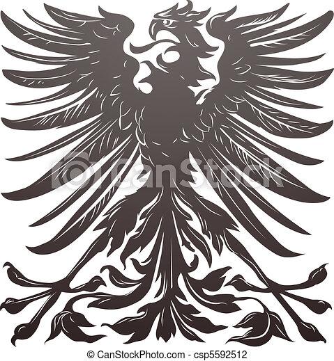 Imperial eagle design element - csp5592512