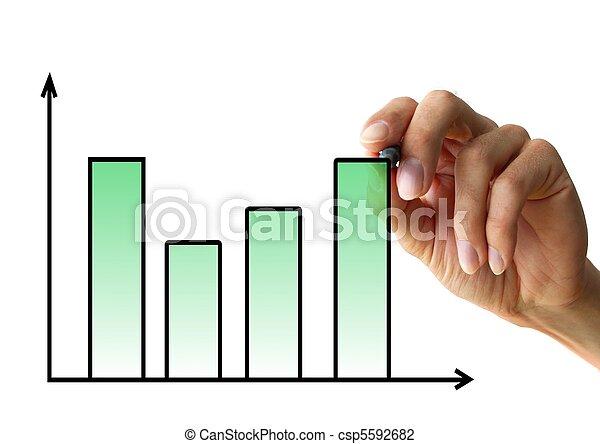 手, 圖表, 圖畫 - csp5592682