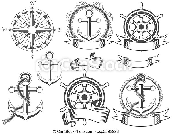 Nautical emblems - csp5592923