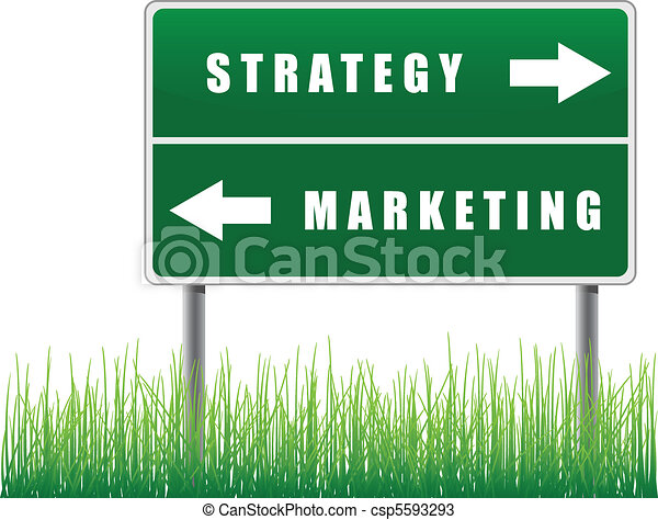 Signpost strategy marketing. - csp5593293