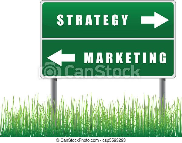 Signpost strategy marketing. - csp5593293