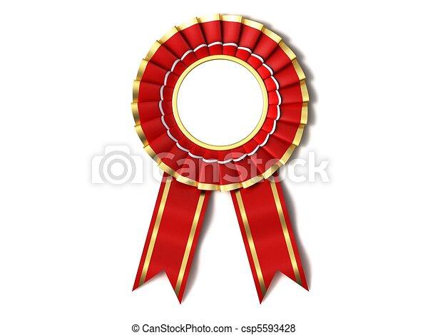 Red Ribbon Award. - csp5593428