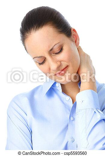 Sick woman - csp5593560