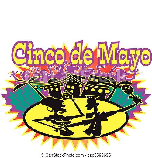 Cinco de Mayo holiday celebration - csp5593635