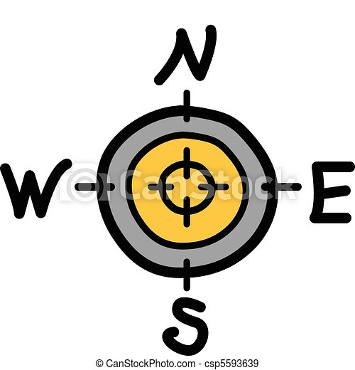 Compass with north south east west - csp5593639
