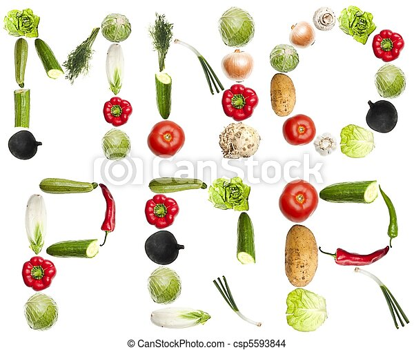 Letters made of vegetables - csp5593844
