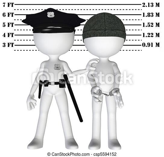 Police arrest criminal cop perp crime justice mugshot - csp5594152