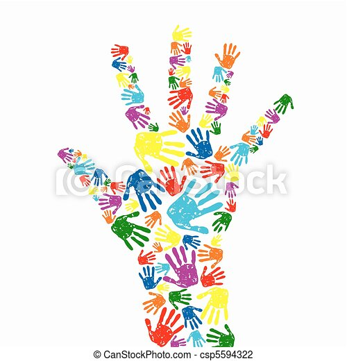 hand prints background - csp5594322