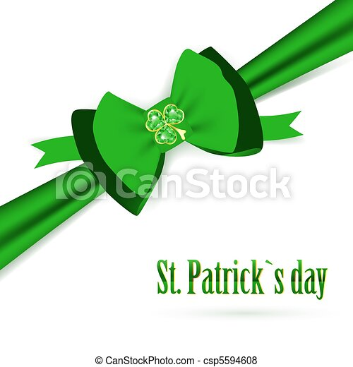 St.Patrick holiday green bow - csp5594608