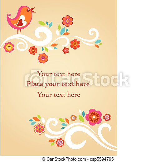 Childish Easter card - csp5594795