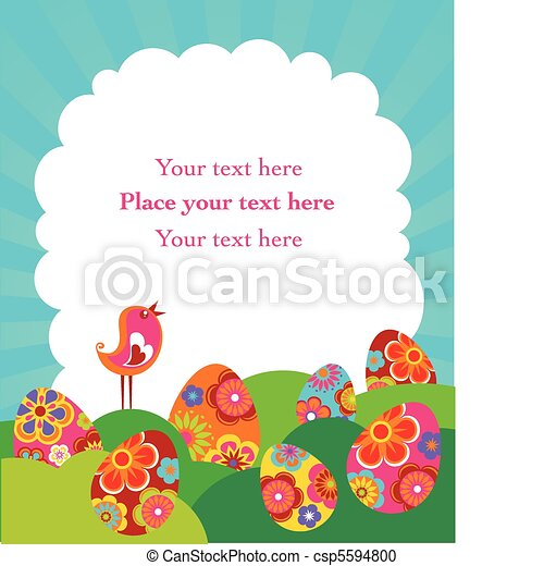 Easter card - csp5594800