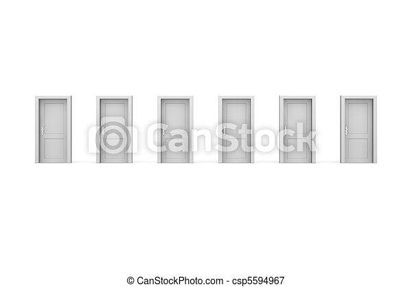 Six Grey Doors - csp5594967
