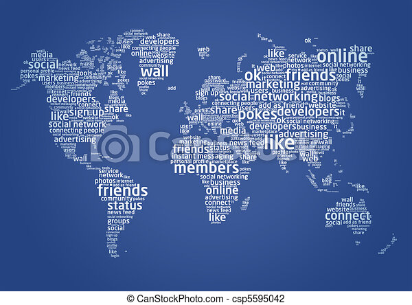 The world of social networking - csp5595042