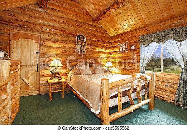 Stock fotos de registro, rústico, madera, diseño, dormitorio ...