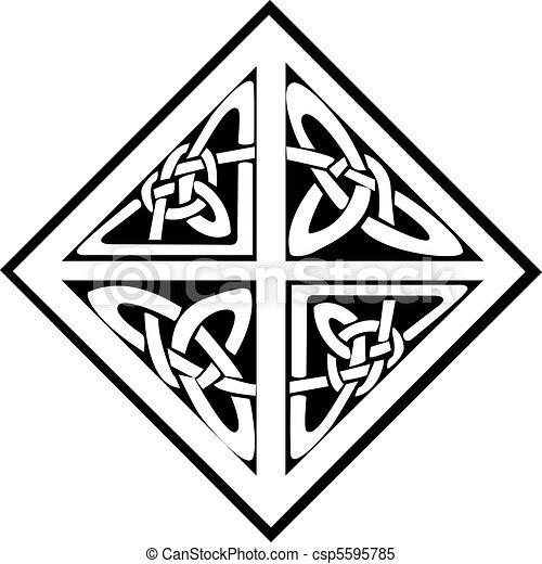 A square celtic knots design - csp5595785