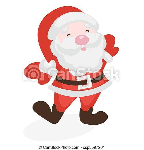 Merry Santa Claus - csp5597201