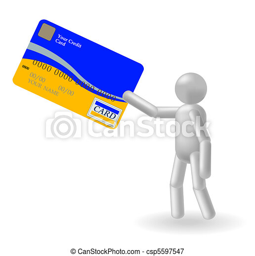 Person and credit card - csp5597547