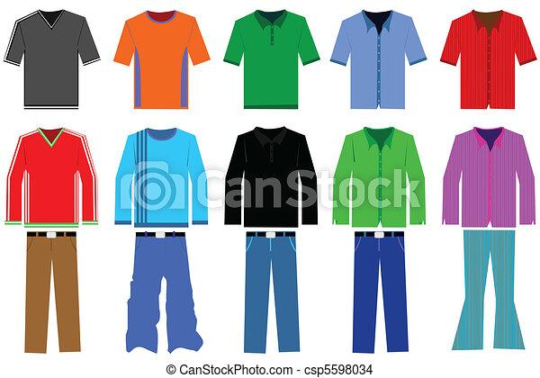 Men?s clothes illustration - csp5598034