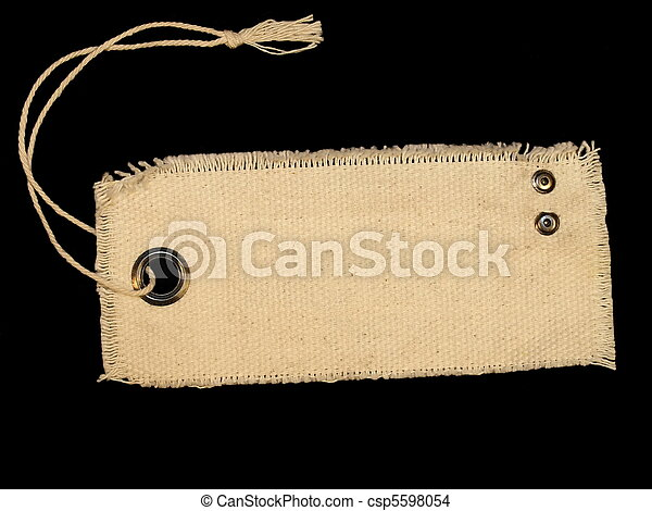 Blank textile tag isolated  - csp5598054