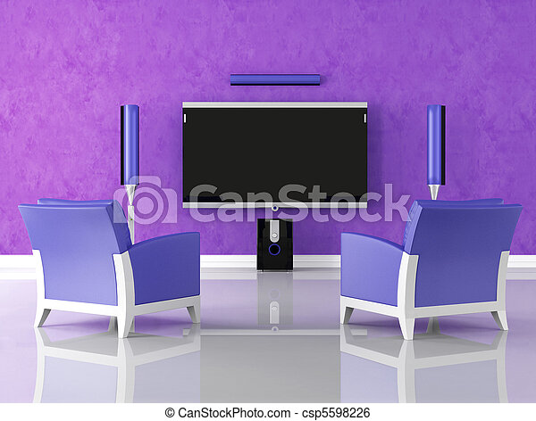 purple home theater - csp5598226