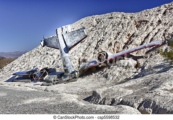 Stock Photo of Plane Crash in the hill side - Crashed plane in the ...