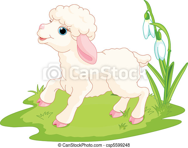Easter lamb - csp5599248