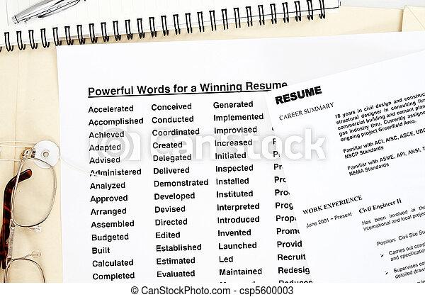 Powerful words resume - csp5600003