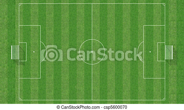 aerial view of a soccer field -3d rendering - csp5600070