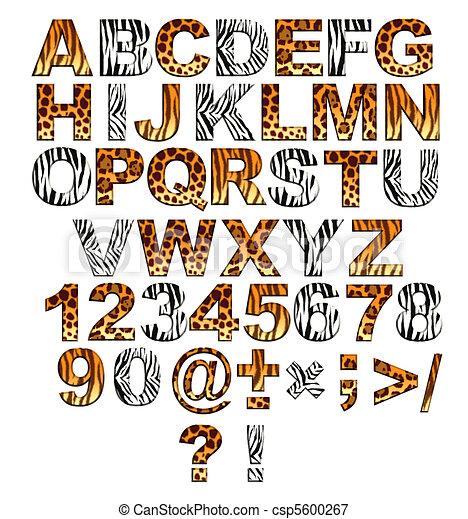 3d alphabet in style of a safari - csp5600267