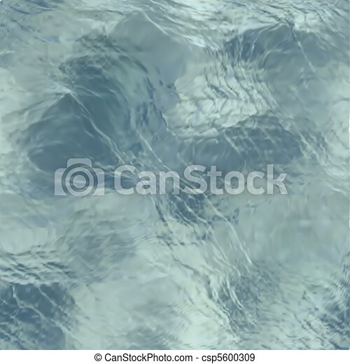 Clear Blue Water Sea Floor - csp5600309