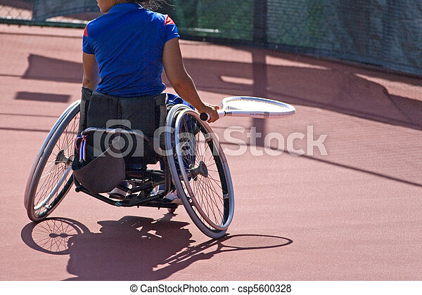 Wheel Chair Tennis for Disabled - csp5600328