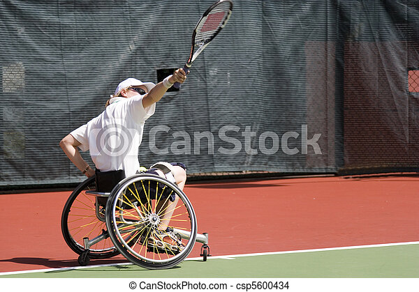 Wheel Chair Tennis for Disabled - csp5600434