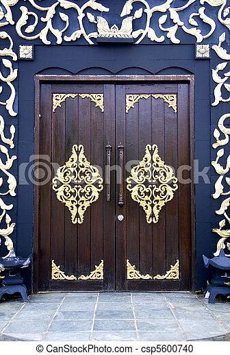 Traditional Malay House Doors - csp5600740