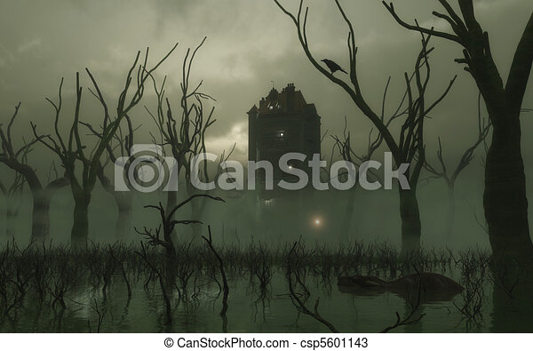Haunted Tower in the Swamp - csp5601143