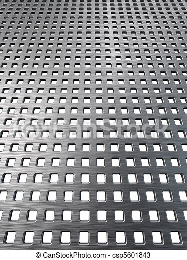 Texture of steel grill surface - csp5601843