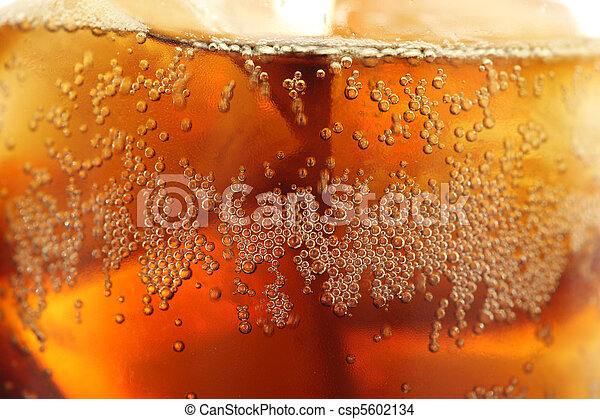 Ice Cubes in Soda - csp5602134
