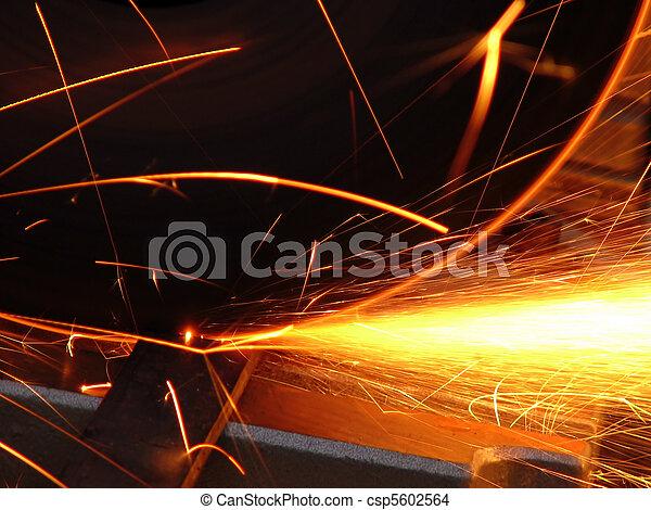cascade of sparks - csp5602564