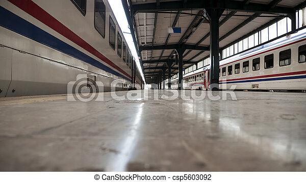 Transportation railway train station - csp5603092