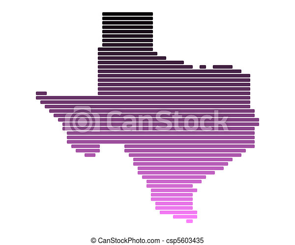 Map of Texas - csp5603435