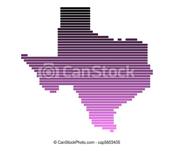 Map of Texas - csp5603435
