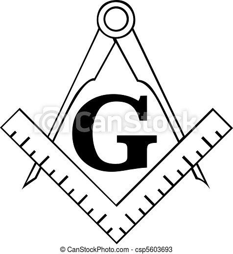 The Masonic Square and Compass symbol, freemason - csp5603693