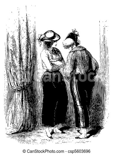 A private conversation of two woman - csp5603696
