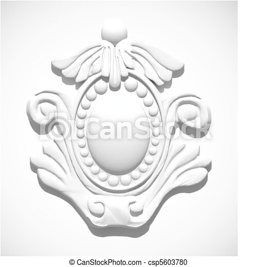 Vector Clipart of Stucco moulding. Vector - close-up of ...